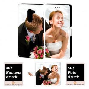 Personalisierte Ledertasche für Huawei Mate 9 Lite mit Foto Text Bild Druck