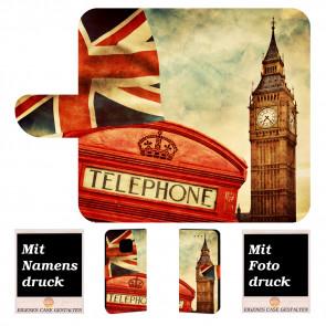 Huawei Mate 20 Pro Personalisierte Handy Tasche mit Big Ben-London + Foto Druck