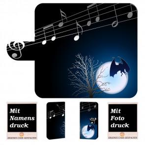 Huawei Mate 20 Pro Handy Hülle Tasche mit Fledermaus- Mond + Bild Druck Etui