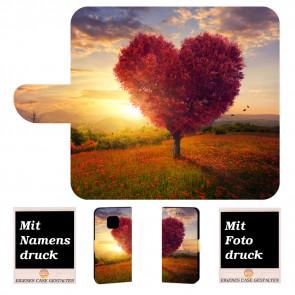 Huawei Mate 20 Pro Schutzhülle Handy Tasche mit Fotodruck Herzbaum