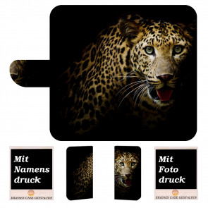 Huawei Mate 20 Pro Schutzhülle Handy Tasche Hülle mit Leopard + Foto Druck