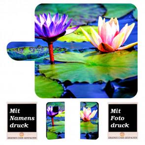 Huawei Mate 20 Pro Personalisierte Handy Tasche mit Lotosblumen Bild Druck Etui