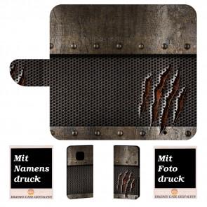 Huawei Mate 20 Pro Handy Tasche mit Tür Monster Metall Fotodruck