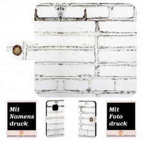 Huawei Mate 20 Pro Handy Tasche mit Weiße Mauer Bilddruck