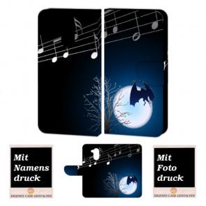 Huawei Nova Smart Handy Hülle Tasche mit Fledermaus- Mond + Foto Druck Etui