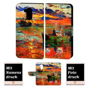 Huawei Nova Smart Personalisierte Handy Tasche Hülle mit Gemälde + Foto Druck