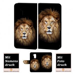 Huawei Nova Smart Personalisierte Handy Hülle Tasche Etui mit Löwe + Foto Druck
