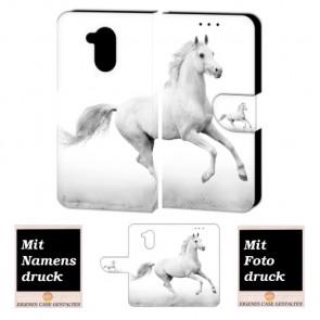 Huawei Nova Smart Personalisierte Handy Hülle Tasche mit Pferd + Foto Druck Etui