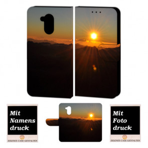 Huawei Nova Smart Schutzhülle Handy Tasche mit Sonnenaufgang + Foto Druck Etui