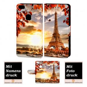 Handyhülle Tasche für Huawei P10 Lite mit Eiffelturm Fotodruck