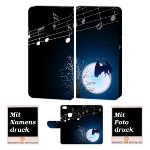 Schutzhülle Handy für Huawei P10 Lite mit Fledermaus- Mond Bilddruck