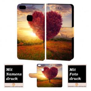 Huawei P10 Lite Handy Schutzhülle Tasche mit Herzbaum Bilddruck
