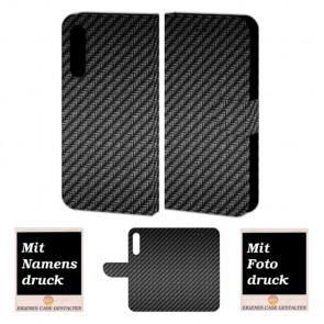Schutzhülle Handy Tasche mit Carbon Fotodruck fürHuawei P20 Pro