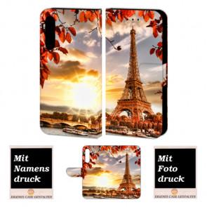 Huawei P30 Personalisierte Handyhülle mit Eiffelturm + Fotodruck Tasche