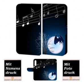 Huawei P20 Schutzhülle Handy Hülle mit Fledermaus- Mond Fotodruck