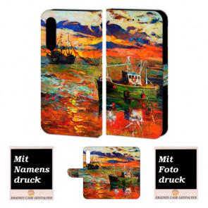 Handyhülle Tasche mit Gemälde Bilddruck für Huawei P20 Pro