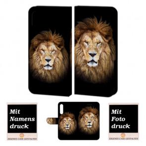 Huawei P30 Personalisierte Handy Hülle mit Löwe + Fotodruck Tasche