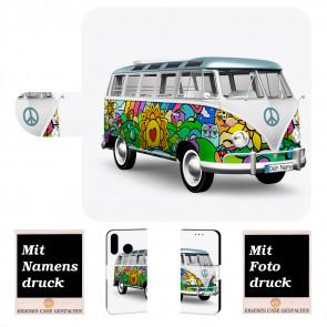Handyhülle für Samsung Galaxy M20 mit Hippie Bus + Fotodruck