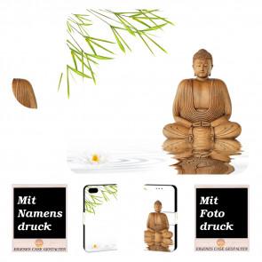 iPhone 6, 6s Personalisierte Handy Hülle mit Frieden Buddha + Fotodruck