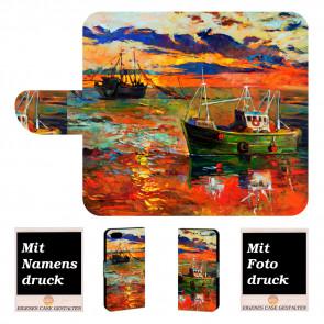 iPhone 6, 6s Individuelle Handy Hülle mit Gemälde + Bilddruck Etui