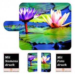 Schutz Hülle für iPhone 6 +/ 6s Plus Handy mit Lotosblumen Fotodruck