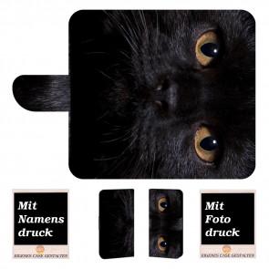 Handyhülle mit Schwarz Katze Fotodruck für iPhone 6 +/ 6s Plus