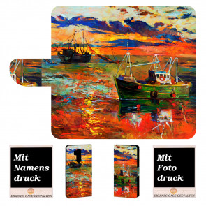 LG G7 ThinQ Personalisierte Handy Hülle mit Gemälde + Bild Text Druck