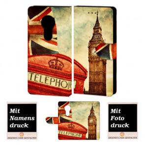 Motorola Moto E5 Play Handyhülle mit Big Ben-London + Fotodruck Text