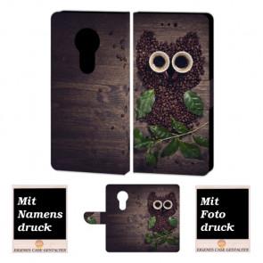 Motorola Maoto E5 Personalisierte Handy Hülle mit Kaffee Eule + Foto Druck