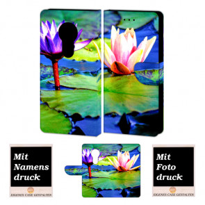 Motorola Maoto E5 Personalisierte Handyhülle mit Lotosblumen + Fotodruck