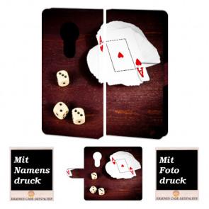 Motorola Moto E5 Play Handyhülle mit Spielkarten - Würfel + Fotodruck