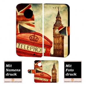 Motorola Maoto G6 Plus Handy Hülle Tasche Etui mit Big Ben-London + Foto + Druck