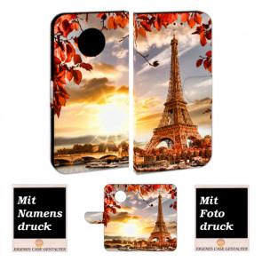 Motorola Moto G5 Plus Handy Hülle Tasche mit Bilddruck Eiffelturm