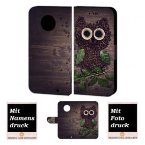 Motorola Maoto G6 Plus Personalisierte Handy Hülle mit Kaffee Eule + Foto + Druck