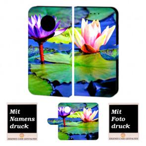 Handy Hülle Tasche mit Bilddruck Lotosblumen für Motorola Moto G5 Plus