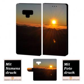 Samsung Galaxy Note 9 Schutzhülle Handyhülle mit Sonnenaufgang + Fotodruck