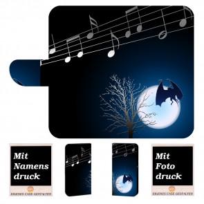 Nokia 2.1 Schutzhülle Handy Tasche mit Fledermaus- Mond + Foto Druck