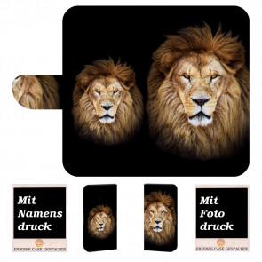 Nokia 2.1 Personalisierte Handy Tasche mit Löwe + Foto Text Druck