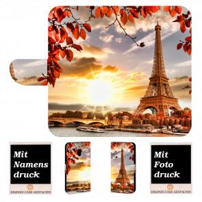 Nokia 2.1 Personalisierte Handy Hülle mit Eiffelturm + Foto Text Druck