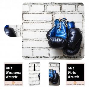 Nokia 5.1 Individuelle Handyhülle mit Boxhandschuhe + Fotodruck Text