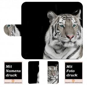 Nokia 5.1 Schutzhülle Handyhülle Tasche mit Tiger + Fotodruck