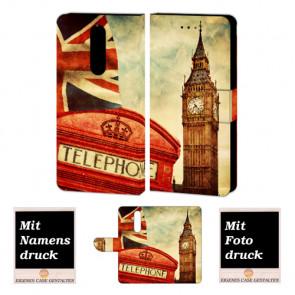 Nokia 6 (2018) Schutzhülle Handy Hülle Etui mit Big Ben-London + Bild +Text Druck