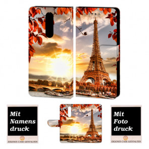 Nokia 3.1 Plus Personalisierte Handyhülle mit Eiffelturm + Bildruck Text