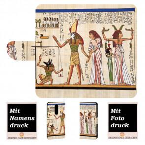 Nokia 5.1 Plus Individuelle Handy Tasche mit Götter Ägyptens + Fotodruck