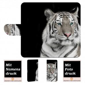 Nokia 3.1 Plus Schutzhülle Handy Tasche mit Tiger + Fotodruck