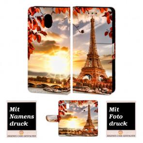 Nokia 3 Individuelle Handy Hülle Tasche Etui mit Eiffelturm + Fotodruck