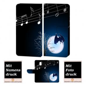 Nokia 3 Schutzhülle Handy Tasche mit Fledermaus- Mond + Foto Druck