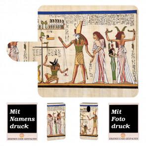 Nokia 3.1 Personalisierte Handy Tasche mit Götter Ägyptens + Fotodruck