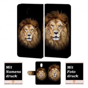 Nokia 3 Personalisierte Handy Tasche Hülle mit Löwe + Foto Text Druck