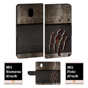 Handyhülle Tasche mit Tür Monster Metall + Bilddruck für Nokia 2